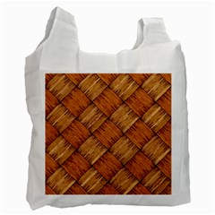 Vector Square Texture Pattern Recycle Bag (one Side) by Amaryn4rt