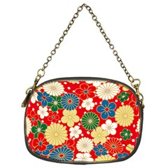 Season Flower Rose Sunflower Red Green Blue Chain Purses (two Sides)  by Alisyart