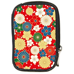 Season Flower Rose Sunflower Red Green Blue Compact Camera Cases