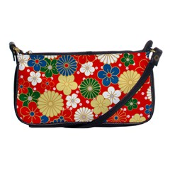 Season Flower Rose Sunflower Red Green Blue Shoulder Clutch Bags