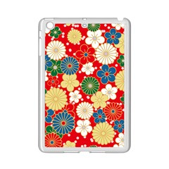 Season Flower Rose Sunflower Red Green Blue Ipad Mini 2 Enamel Coated Cases
