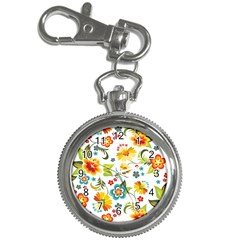 Flower Floral Rose Sunflower Leaf Color Key Chain Watches by Alisyart