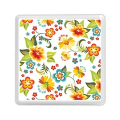 Flower Floral Rose Sunflower Leaf Color Memory Card Reader (square)  by Alisyart
