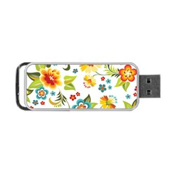 Flower Floral Rose Sunflower Leaf Color Portable Usb Flash (two Sides)