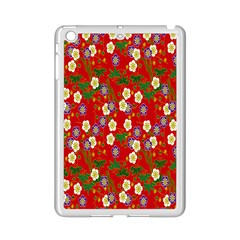 Red Flower Floral Tree Leaf Red Purple Green Gold Ipad Mini 2 Enamel Coated Cases