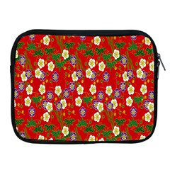 Red Flower Floral Tree Leaf Red Purple Green Gold Apple Ipad 2/3/4 Zipper Cases by Alisyart
