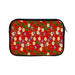 Red Flower Floral Tree Leaf Red Purple Green Gold Apple Ipad Mini Zipper Cases by Alisyart