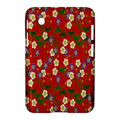 Red Flower Floral Tree Leaf Red Purple Green Gold Samsung Galaxy Tab 2 (7 ) P3100 Hardshell Case