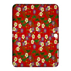 Red Flower Floral Tree Leaf Red Purple Green Gold Samsung Galaxy Tab 4 (10 1 ) Hardshell Case