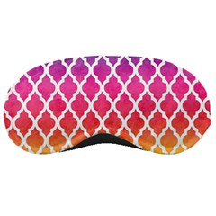 Colorful Rainbow Moroccan Pattern Sleeping Masks by Amaryn4rt
