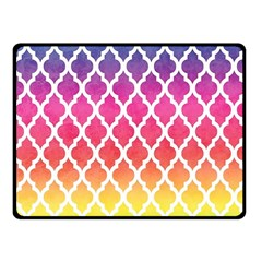 Colorful Rainbow Moroccan Pattern Fleece Blanket (small) by Amaryn4rt