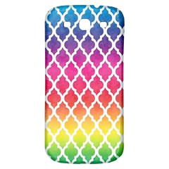 Colorful Rainbow Moroccan Pattern Samsung Galaxy S3 S Iii Classic Hardshell Back Case by Amaryn4rt