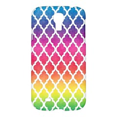 Colorful Rainbow Moroccan Pattern Samsung Galaxy S4 I9500/i9505 Hardshell Case by Amaryn4rt