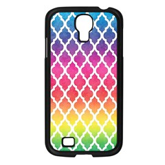 Colorful Rainbow Moroccan Pattern Samsung Galaxy S4 I9500/ I9505 Case (black) by Amaryn4rt