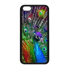 3d Peacock Pattern Apple Iphone 5c Seamless Case (black)