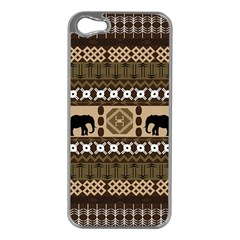 African Vector Patterns  Apple Iphone 5 Case (silver) by Amaryn4rt