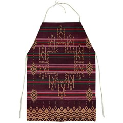 Ulos Suji Traditional Art Pattern Full Print Aprons by Amaryn4rt