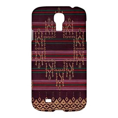 Ulos Suji Traditional Art Pattern Samsung Galaxy S4 I9500/i9505 Hardshell Case by Amaryn4rt