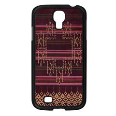 Ulos Suji Traditional Art Pattern Samsung Galaxy S4 I9500/ I9505 Case (black) by Amaryn4rt