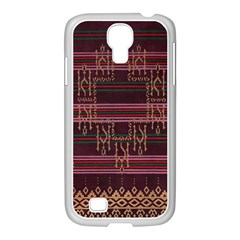 Ulos Suji Traditional Art Pattern Samsung Galaxy S4 I9500/ I9505 Case (white) by Amaryn4rt