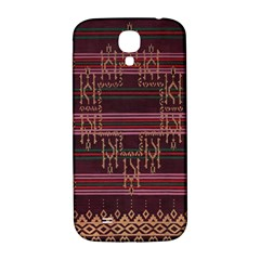 Ulos Suji Traditional Art Pattern Samsung Galaxy S4 I9500/i9505  Hardshell Back Case by Amaryn4rt