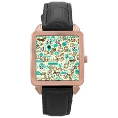 Telegramme Rose Gold Leather Watch  by Amaryn4rt