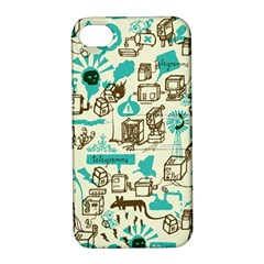 Telegramme Apple Iphone 4/4s Hardshell Case With Stand by Amaryn4rt