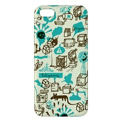 Telegramme Apple Iphone 5 Premium Hardshell Case by Amaryn4rt