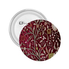 Crewel Fabric Tree Of Life Maroon 2 25  Buttons by Amaryn4rt