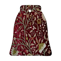 Crewel Fabric Tree Of Life Maroon Bell Ornament (two Sides) by Amaryn4rt