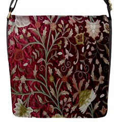 Crewel Fabric Tree Of Life Maroon Flap Messenger Bag (s)