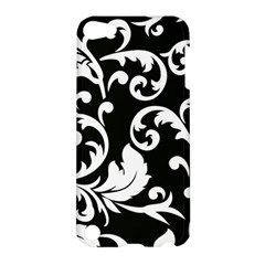 Vector Classical Traditional Black And White Floral Patterns Apple Ipod Touch 5 Hardshell Case by Amaryn4rt