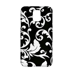 Vector Classical Traditional Black And White Floral Patterns Samsung Galaxy S5 Hardshell Case  by Amaryn4rt