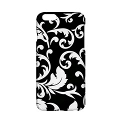 Vector Classical Traditional Black And White Floral Patterns Apple Iphone 6/6s Hardshell Case by Amaryn4rt