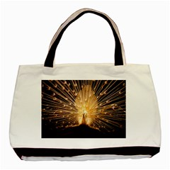 3d Beautiful Peacock Basic Tote Bag (two Sides)