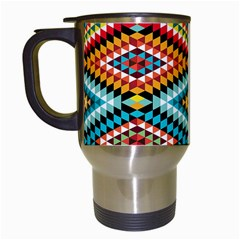 African Tribal Patterns Travel Mugs (white) by Amaryn4rt