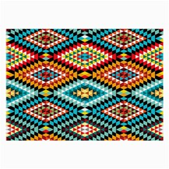 African Tribal Patterns Large Glasses Cloth