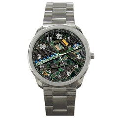 Computer Ram Tech Sport Metal Watch by Amaryn4rt