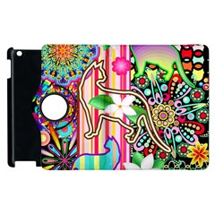 Mandalas, Cats And Flowers Fantasy Digital Patchwork Apple Ipad 2 Flip 360 Case