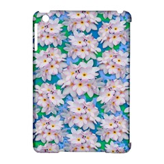 Plumeria Bouquet Exotic Summer Pattern  Apple Ipad Mini Hardshell Case (compatible With Smart Cover) by BluedarkArt