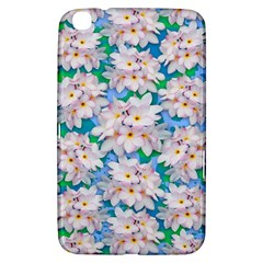 Plumeria Bouquet Exotic Summer Pattern  Samsung Galaxy Tab 3 (8 ) T3100 Hardshell Case  by BluedarkArt