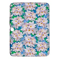 Plumeria Bouquet Exotic Summer Pattern  Samsung Galaxy Tab 3 (10 1 ) P5200 Hardshell Case  by BluedarkArt