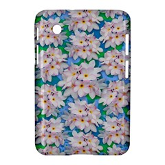 Plumeria Bouquet Exotic Summer Pattern  Samsung Galaxy Tab 2 (7 ) P3100 Hardshell Case  by BluedarkArt