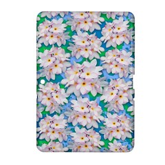 Plumeria Bouquet Exotic Summer Pattern  Samsung Galaxy Tab 2 (10 1 ) P5100 Hardshell Case  by BluedarkArt