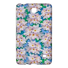 Plumeria Bouquet Exotic Summer Pattern  Samsung Galaxy Tab 4 (7 ) Hardshell Case  by BluedarkArt