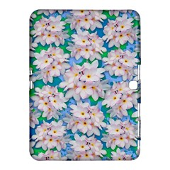 Plumeria Bouquet Exotic Summer Pattern  Samsung Galaxy Tab 4 (10 1 ) Hardshell Case  by BluedarkArt