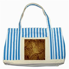 Beautiful Patterns Vector Striped Blue Tote Bag by Amaryn4rt