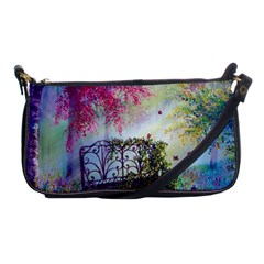 Bench In Spring Forest Shoulder Clutch Bags by Amaryn4rt