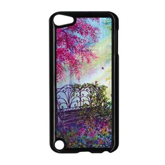 Bench In Spring Forest Apple Ipod Touch 5 Case (black) by Amaryn4rt