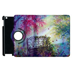 Bench In Spring Forest Apple Ipad 2 Flip 360 Case by Amaryn4rt